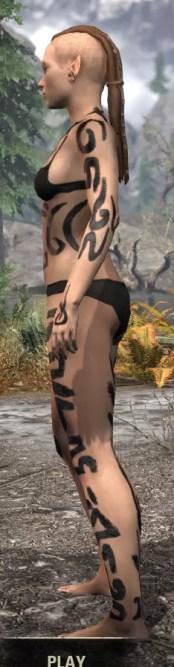 Forsaken Sacrifice Body Markings - Female Side