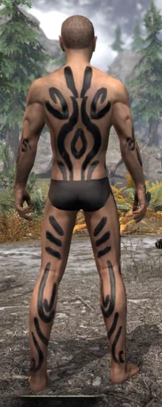Forsaken Sacrifice Body Markings - Male Rear