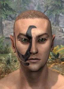 Forsaken Sacrifice Face Markings - Male Front