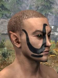 Forsaken Sacrifice Face Markings - Male Side