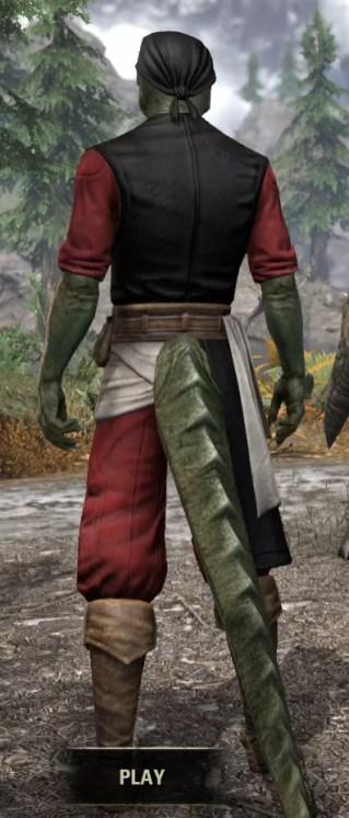 Innkeeper - Argonian Male Rear