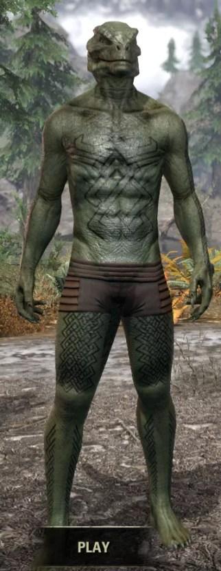Karthwatch Guardian Body Tattoo - Argonian Male Front