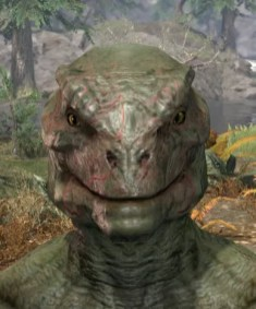 Thrall's Arterial Map Face Marks - Argonian Male Front