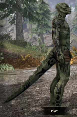 Umbral Snarl Body Markings - Argonian Male Right