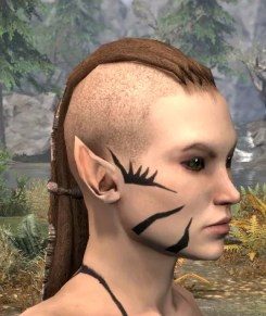 Umbral Snarl Face Markings - Female Side