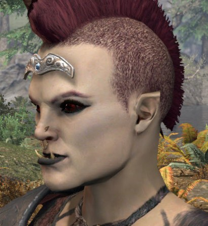 Seastone Browplate - Orc Female Side