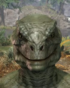 Morthal Champion Face Markings - Argonian Male Front