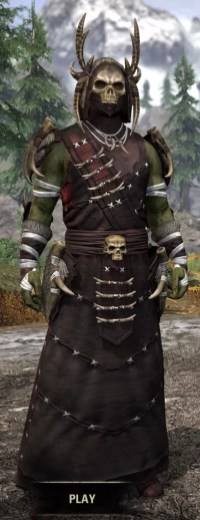 Ancestral Reach Light - Argonian Male Robe Front