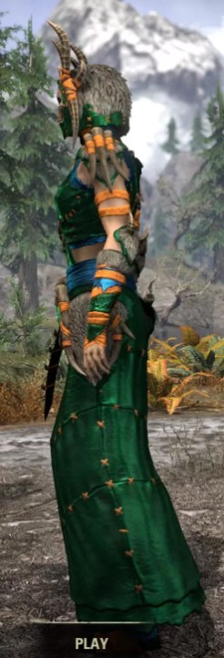 Ancestral Reach Light - Dyed Robe Side