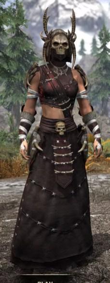 Ancestral Reach Light - Female Robe Front