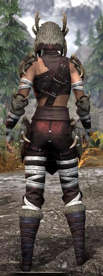 Ancestral Reach Light - Female Shirt Rear