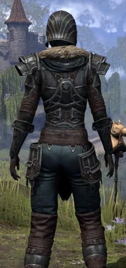 Ebonsteel Knight - Female Close Rear