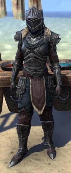 Ebonsteel Knight - Khajiit Female Front