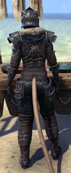 Ebonsteel Knight - Khajiit Female Rear