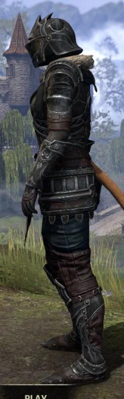 Ebonsteel Knight - Khajiit Female Side
