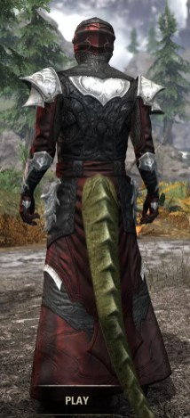 Nighthollow Light - Argonian Male Robe Rear