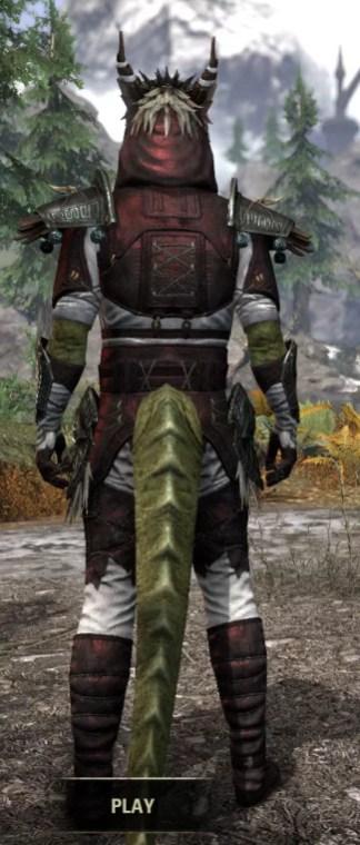 Wayward Guardian Medium - Argonian Male Rear