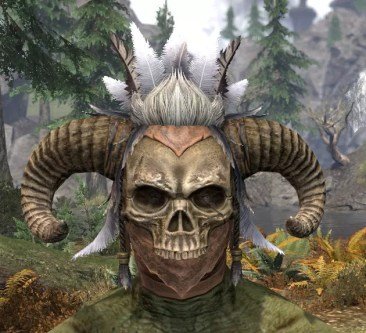 Witchwise Headdress - Argonian Male Front