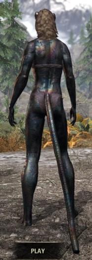 Slag Town Diver - Khajiit Female Rear