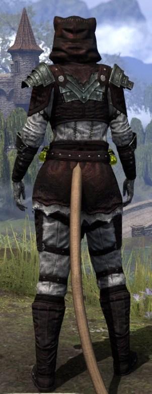 True-Sworn Heavy - Khajiit Female Rear
