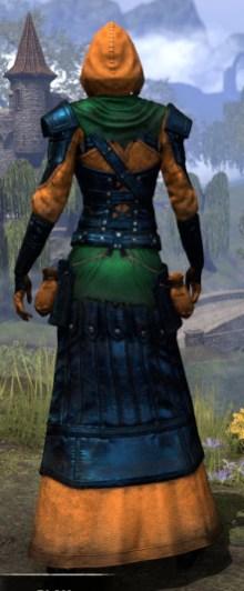 True-Sworn Light - Dyed Robe Rear