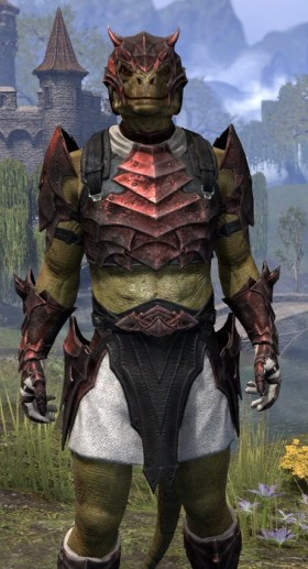 Waking Flame Heavy - Argonian Male Close Front