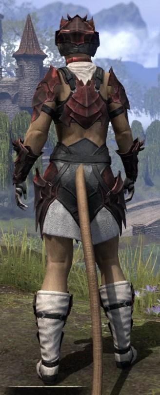 Waking Flame Heavy - Khajiit Female Rear