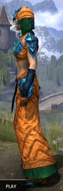 Waking Flame Light - Dyed Robe Side