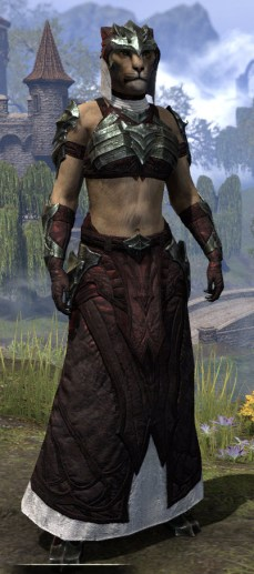 Waking Flame Light - Khajiit Female Robe Front