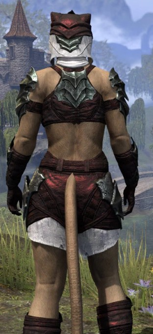 Waking Flame Light - Khajiit Female Shirt Close Rear