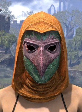 Courtly Crow Mask - Dyed Front