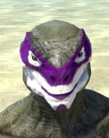 Prankster Purple Face Paint - Argonian Male Front