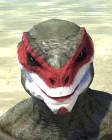 Raconteur Red Face Paint - Argonian Male Front