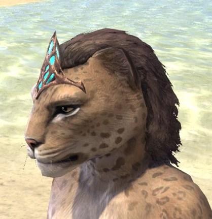 Saliache Aetherial Tiara - Khajiit Female Side