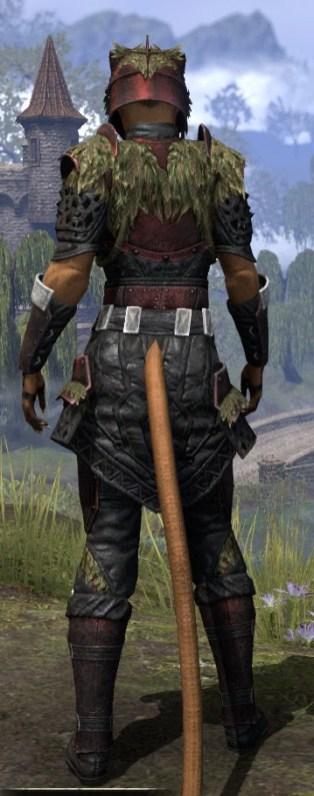 Black Fin Heavy - Khajiit Female Rear