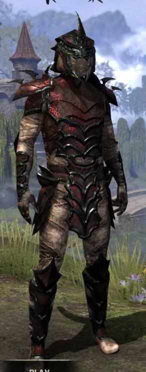 Daedric Medium - Argonian Male Front