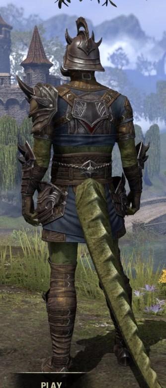 Deadlands Gladiator - Argonian Male Rear