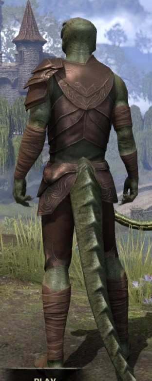 Eveli's Adventuring Leathers - Argonian Male Rear