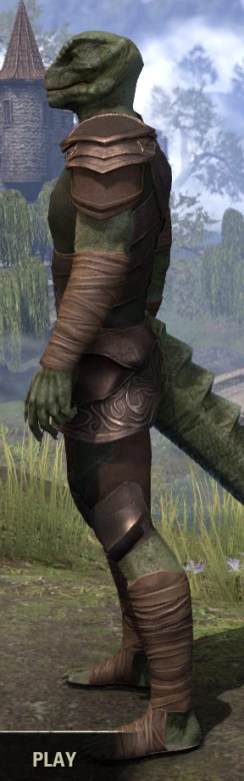 Eveli's Adventuring Leathers - Argonian Male Side