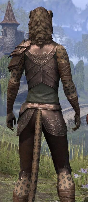 Eveli's Adventuring Leathers - Khajiit Female Close Rear