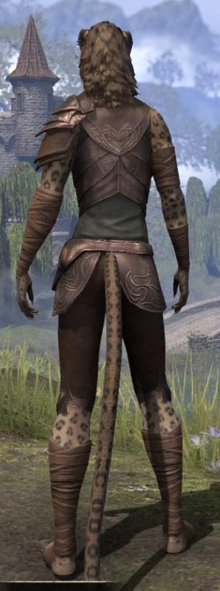 Eveli's Adventuring Leathers - Khajiit Female Rear