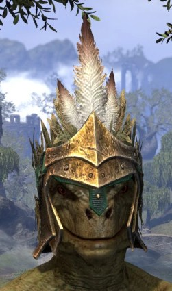 Helm of the Black Fin - Argonian Male Front