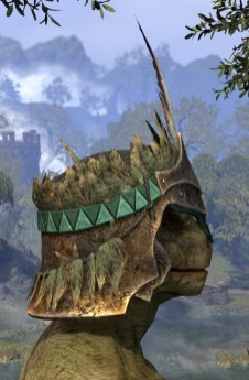 Helm of the Black Fin - Argonian Male Right
