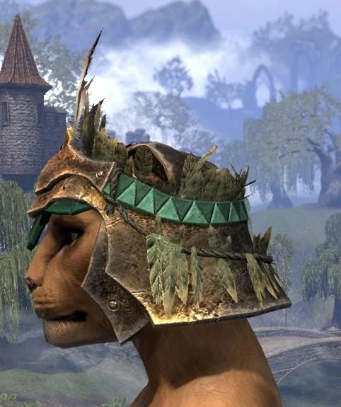 Helm of the Black Fin - Khajiit Female Side