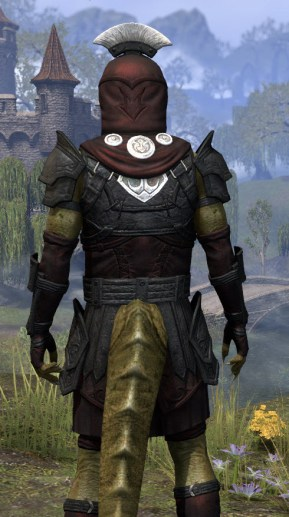 Ivory Brigade Light - Argonian Male Shirt Close Rear