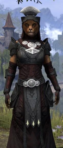 Ivory Brigade Light - Khajiit Female Robe Close Front