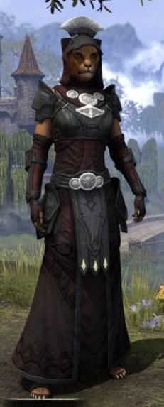 Ivory Brigade Light - Khajiit Female Robe Front