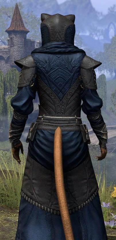 Nibenese Court Wizard - Khajiit Female Close Rear