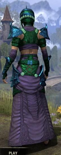 Sul-Xan Light - Dyed Robe Rear