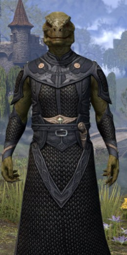 Thrafey Debutante Gown - Argonian Male Close Front